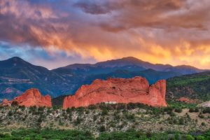 Fiery Sunset at Garden of the Gods II