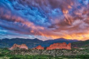 Fiery Sunset at Garden of the Gods