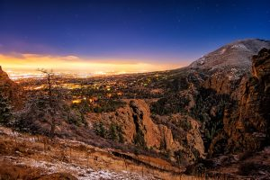 Colorado Springs Under Moonlight